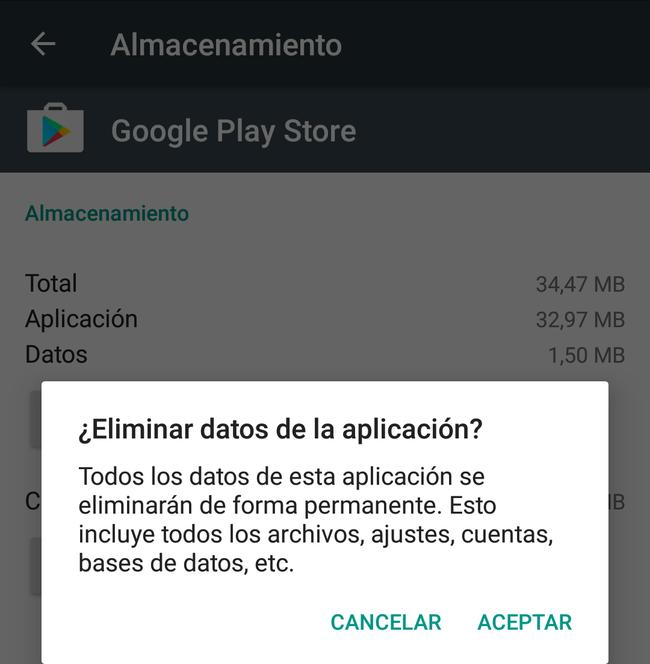 Eliminar Datos De La Aplicacion
