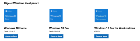 Licencias de Windows 10