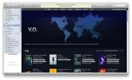 Llegan las películas en versión original a la iTunes Store española