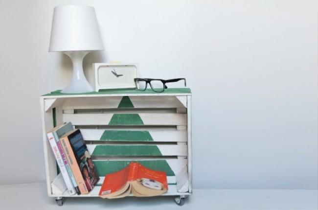 Hazlo t mismo una caja de fruta convertida en mesilla de - Caja fruta decoracion ...