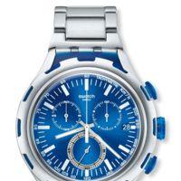 El futuro ligero del reloj Swatch Irony XLite en aluminio y azul