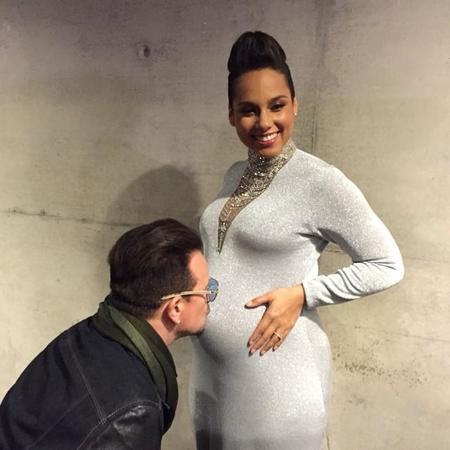 Alicia Keys termina el año con bebé