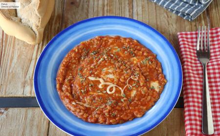 Risotto al teléfono: la receta de arroz con tomate y queso mozzarella típica del Lazio