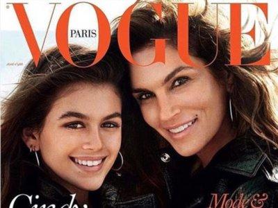 Kaia Gerber, la chica de moda logra su primera portada en Vogue junto a su madre Cindy Crawford