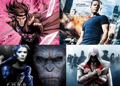 Ya sabemos cuándo se estrenan 'Gambit', 'Bourne 5', 'Apes 3', 'Assassin's Creed' y 'F4 II'