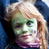 Maquillaje zombie niña