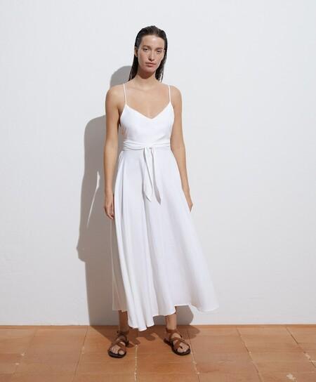 oysho vestido blanco