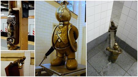 Las esculturas de la estación del metro de la calle 14 en Nueva York