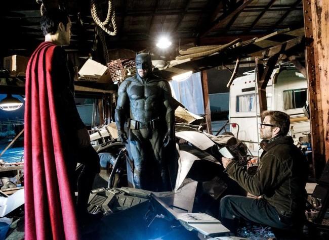 Zack Snyder dirige a Ben Affleck y Henry Cavill