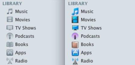 """Modifica los iconos """"grises"""" de iTunes 10 por lo antiguos"""