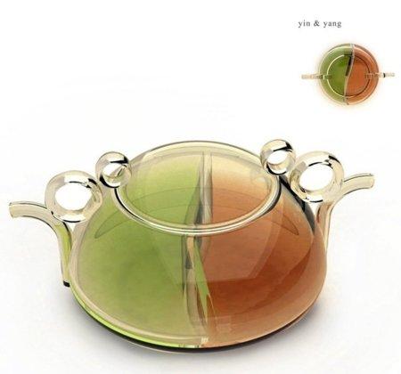 Tetera Yin & Yan, para dos tipos de té