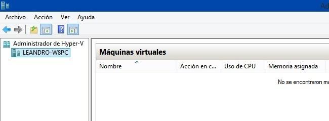 Cabecera de maquinas virtuales