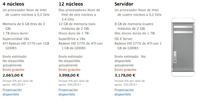 mac pro no disponible apple store