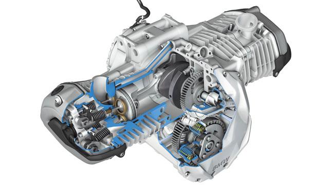 BMW R1200 GS 2013, motor seccionado