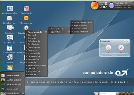 Computadora.de, sistema operativo online con 1GB de capacidad