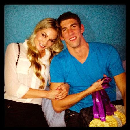 Mira que calladito se tenía Michael Phelps a su churri