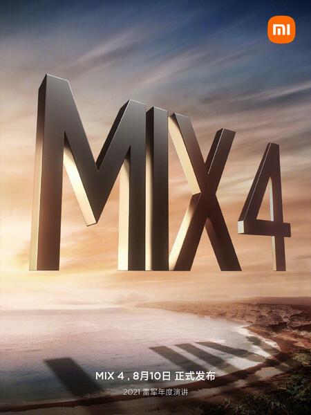 Xiaomi Mi Mix 4 Fecha Presentacion 10 Agosto 2021