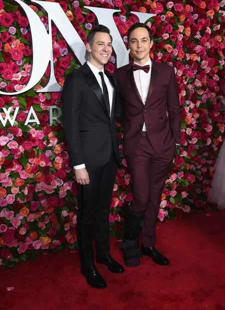 Jim Parsons Tod Spiewak 2018 Tony Awards Red Carpet