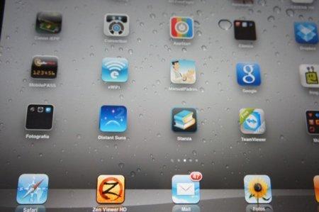 iPad 2 con el protector de pantalla de Targus instalado