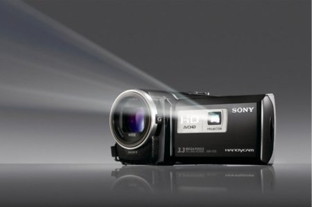 Videocámaras de Sony con proyector incluido