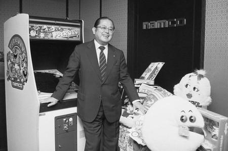Video Game Designer Masaya Nakamura Posing With His Creations
