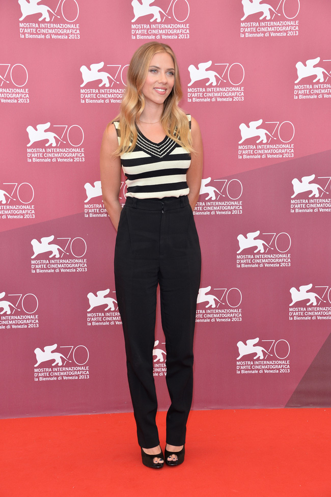 Scarlett Johansson llegó al Festival de Venecia