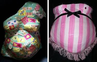 Cómo hacer una escultura de tu tripa embarazada