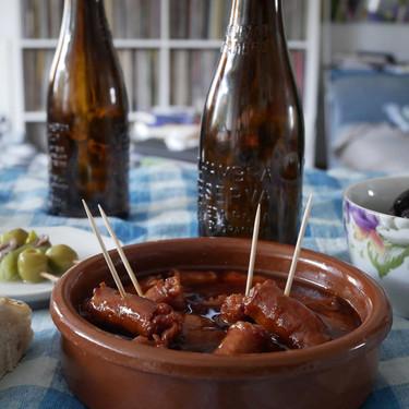 Chistorra a la cerveza: receta de aperitivo fácil e infalible