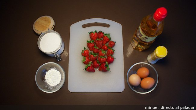 Merengue con fresas - ingredientes