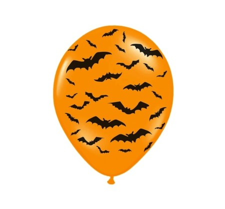 6 Globo Halloween Naranja