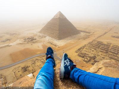¿Cómo es escalar la Gran Pirámide de Guiza por placer? Este alucinante vídeo lo muestra