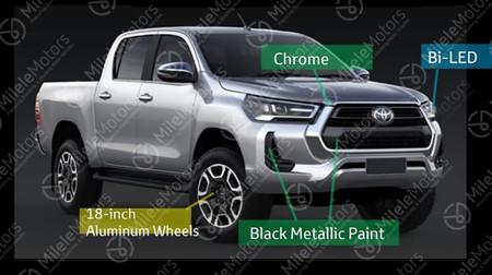¡Filtrado! El facelift de la Toyota Hilux 2021 queda al descubierto