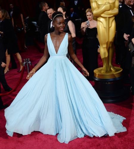 Prada Lupita Nyongo Oscar 2014