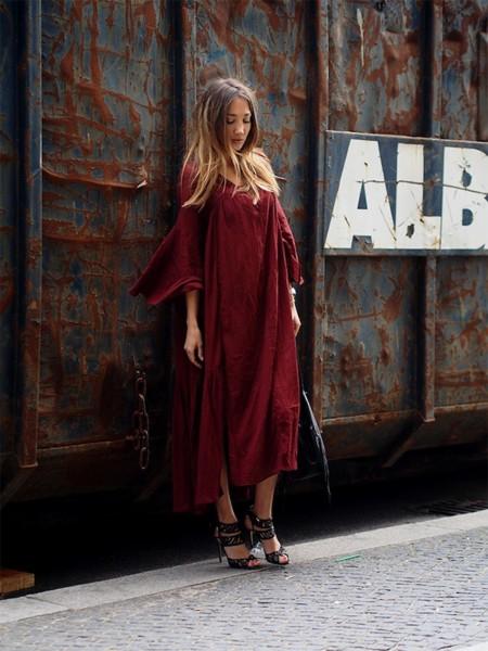 Linen Maxidress Boho Hippie Style Blogger Chicisimo Chictopia Pose Fashion Trends 2015