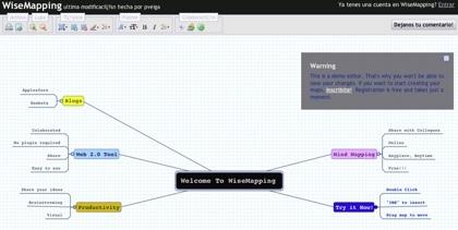WiseMapping, creando mapas mentales