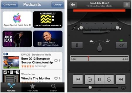 Usa la aplicación Podcast para subscribirte a cualquier Podcast, incluidos los que no están en la iTunes Store