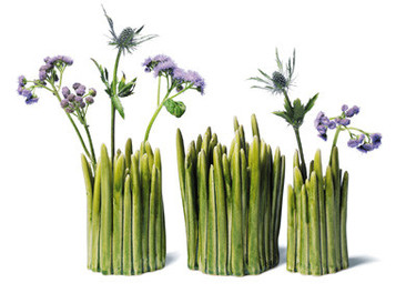 Florero Grass: muy natural