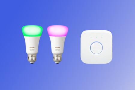 Philips Hue Bluetooth Pack 2 Bombillas Inteligentes Led E27 Y Puente