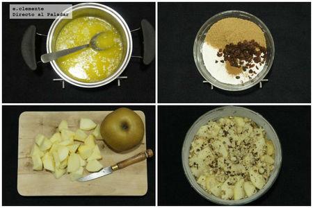 Cake de manzana con crujiente de avellana