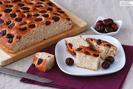 Schiacciata de cerezas: receta italiana de panadería para compartir en días soleados