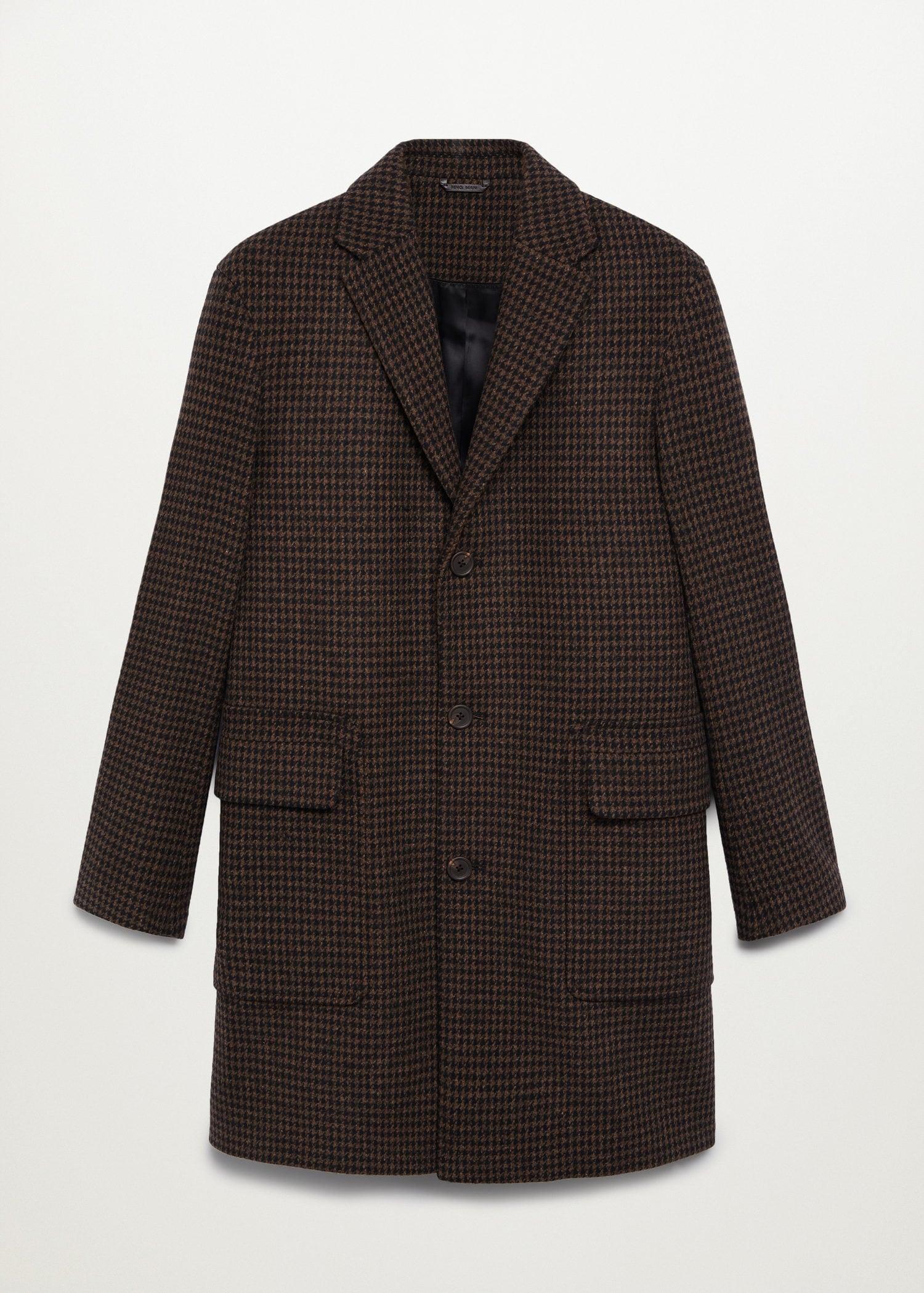 Abrigo Tailored lana reciclada