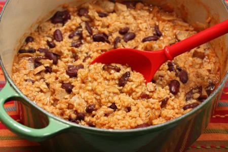 arroz y frijoles