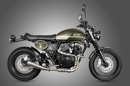La Bullit Bluroc 250 cc es una moto retro para el A2 y de estilo Cafe Racer británico (pero es belga)