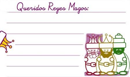 Modelos de carta para los Reyes Magos