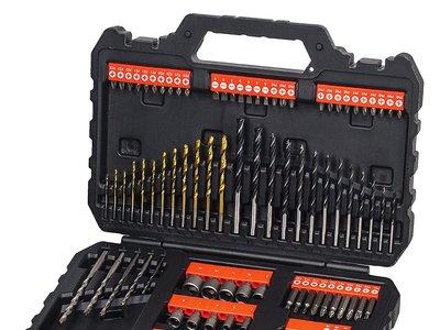 Kit para taladrar y atornillar de 109 piezas al precio más bajo en Amazon, ahora en oferta flash por 17,25 euros