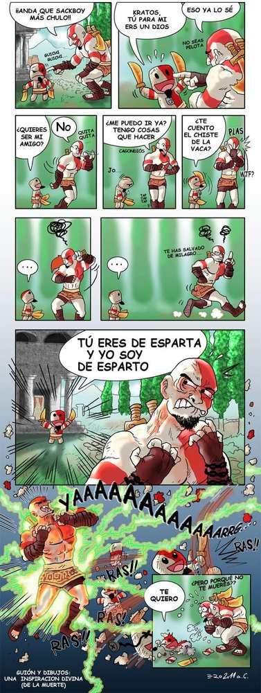 Kratos y su Sackboy
