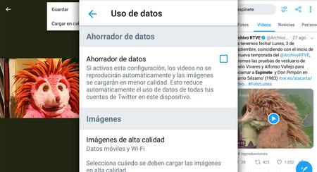 Cómo ahorrar datos y evitar que los vídeos se reproduzcan automáticamente en la app de Twitter