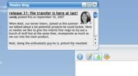 Meebo permite compartir archivos entre usuarios registrados