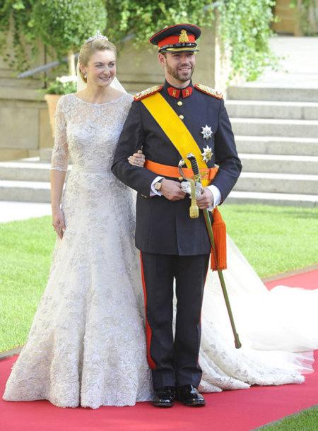 vestido de novia princesa de Luxemburgo