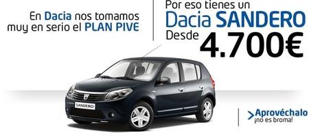 Dacia Sandero y Plan PIVE